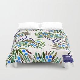 Bonsai Fruit Tree – Blue Palette Duvet Cover