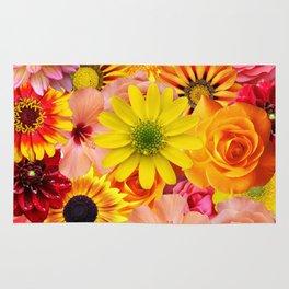 ORANGE FLOWERS Rug