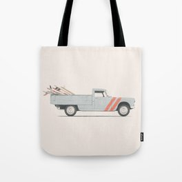 Surfboard Pick Up Van Tote Bag