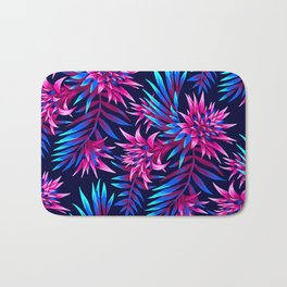Aechmea Fasciata - Dark Blue/Pink Bath Mat