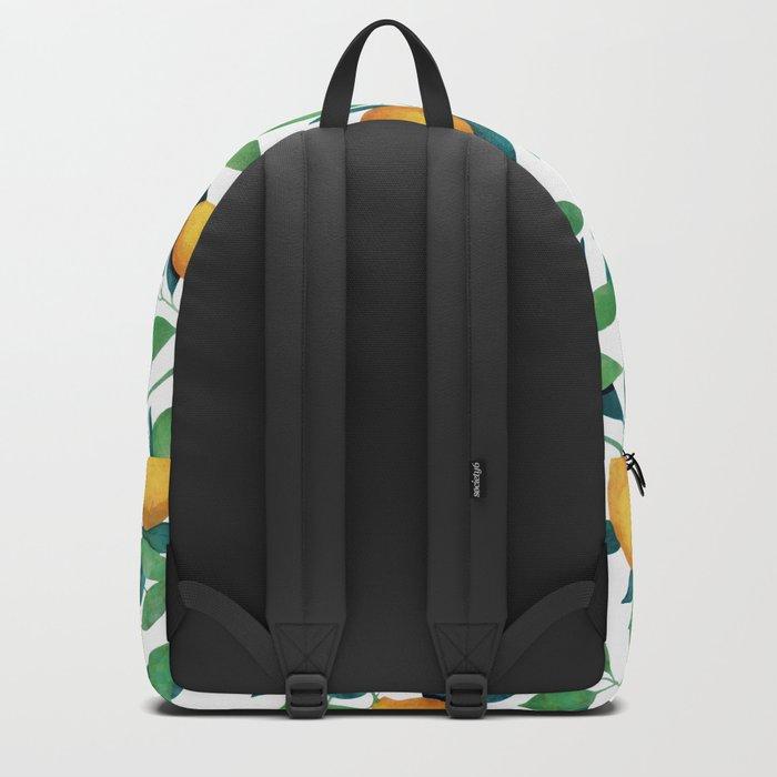 Lemon pattern II Backpack