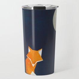 Origami Fox and Moon Travel Mug