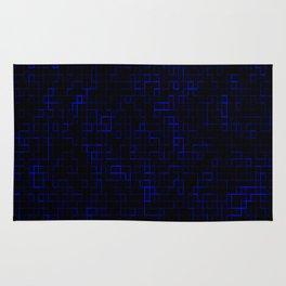 Dark Blue Pixels Rug