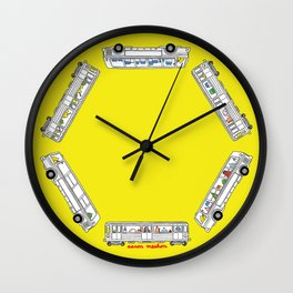 """Pop and Pals: Commuting""  Wall Clock"