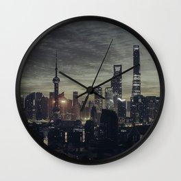 city at the night Wall Clock