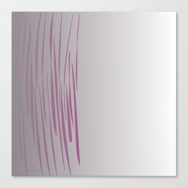 Exotic lines pink on grey Canvas Print