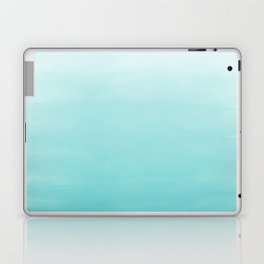 Modern teal watercolor gradient ombre brushstrokes pattern Laptop & iPad Skin