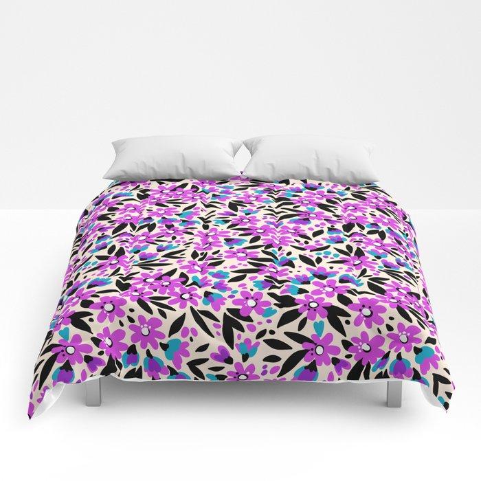 10 pretty pattern in small flower small purple flowers white 10 pretty pattern in small flower small purple flowers white background comforters mightylinksfo