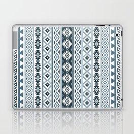 Aztec Stylized Pattern Gray-Blues & White Laptop & iPad Skin
