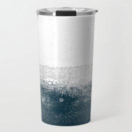 Ocean No. 1 - Minimal ocean sea ombre design  Travel Mug