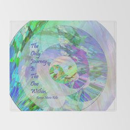 The Only Journey Is The One Within / Rilke Throw Blanket