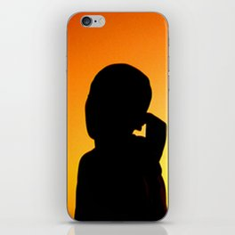 A Kid and His Kite iPhone Skin