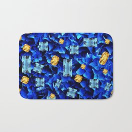 SEPTEMBER BLUE & CHAMPAGNE TOPAZ GEMS BIRTHSTONE ART Bath Mat
