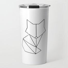 Geometric Fox - Black Travel Mug