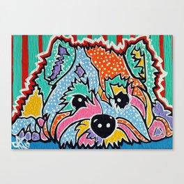 Cotton Candy Designer Dog Series Puppy Pet Westie Westy West Highland Terrier Scottish Cairn Norfolk Canvas Print