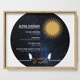 Alpha Centauri - Good Omens Fanart Serving Tray