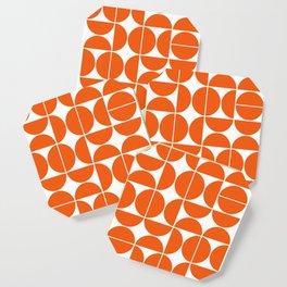 Mid Century Modern Geometric 04 Orange Coaster
