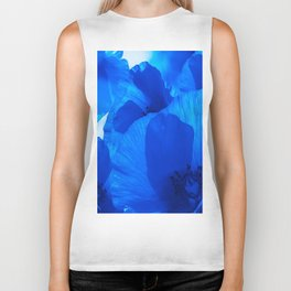 Blue Poppies #decor #society6 #buyart Biker Tank
