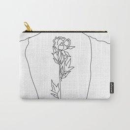 Feminine Floral Back Tat V2 Carry-All Pouch