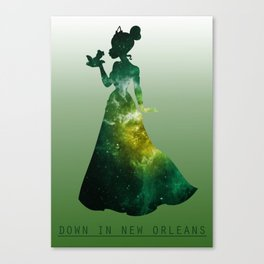 Space Princesses: Tiana Canvas Print