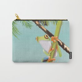 Costa Rica Tree Frog travel poster. Carry-All Pouch