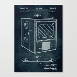 1948 Television cabinet patent art Canvas Print