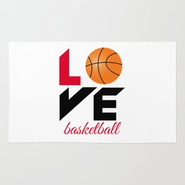 Love basketball Rug