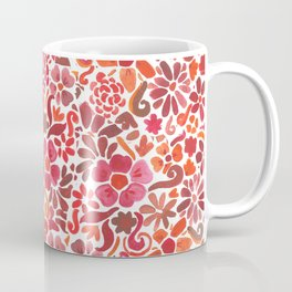 Red Flowers Coffee Mug