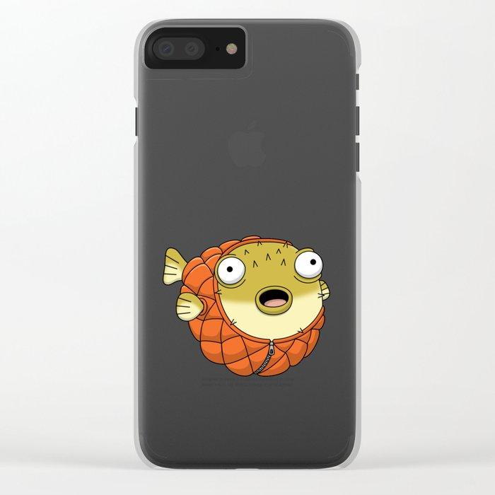 Puffer fish Clear iPhone Case