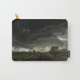 Give Me Shelter - Storm Over Railroad Tracks in Kansas Carry-All Pouch