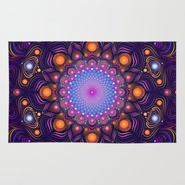 """Guardian"" Mandala painting Rug"