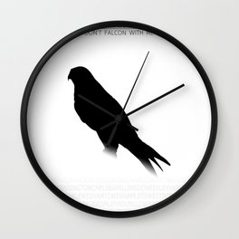Don't Falcon With Me - London Wall Clock