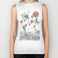 is the new black Biker Tanks featuring Voyages over Edinburgh by David Fleck