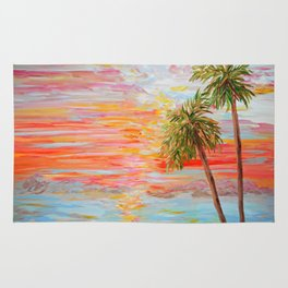 California Coast Sunset Rug