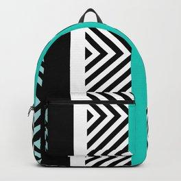 geometric in blue Backpack