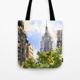 Empire State Building from Bryant Park Tote Bag