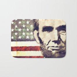 Patriot President Abraham Lincoln Bath Mat