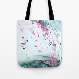Raspberry Ocean Ink Fluid Tote Bag