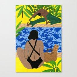 Hockney Poolside Canvas Print