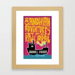 Book Cover Art: The Gandhian Adventures of Raj & Iqbal (2011) Framed Art Print