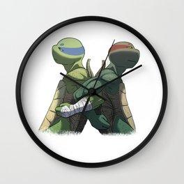 Leonardo and Raphael Wall Clock