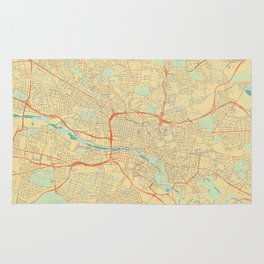 Glasgow Map Retro Rug