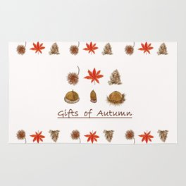 Gift of autumn watercolor painting Rug