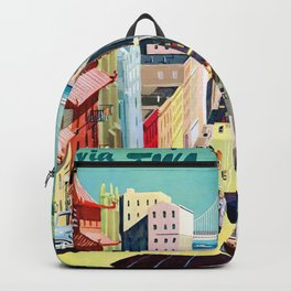 San Francisco Via TWA - Vintage Poster Backpack