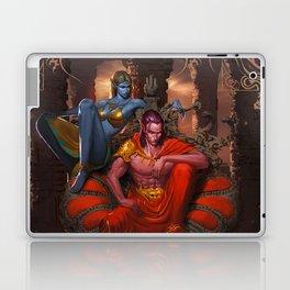 Fight for Nova's Throne (Petra & Yveun from the Loom Saga) Laptop & iPad Skin