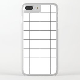 Grid Clear iPhone Case