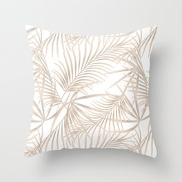Palm leaves 4. Throw Pillow