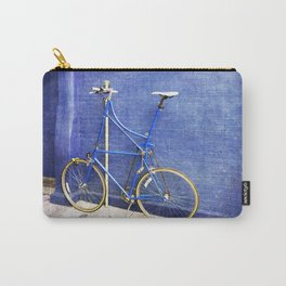 Blue Tall Bike Carry-All Pouch