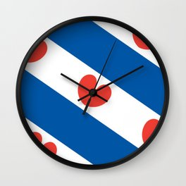 Flag of Friesland Wall Clock
