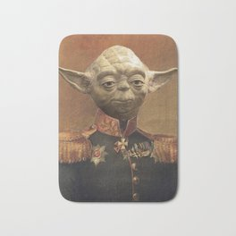 General Yoda Portrait Painting On Canvas   Fan Art Bath Mat